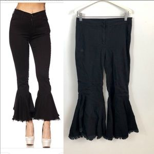 Guest Editor Black Fit Flare Jeans